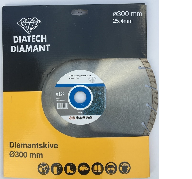 Turbo Diamantskive ø300 mm Til beton med armeringsstål