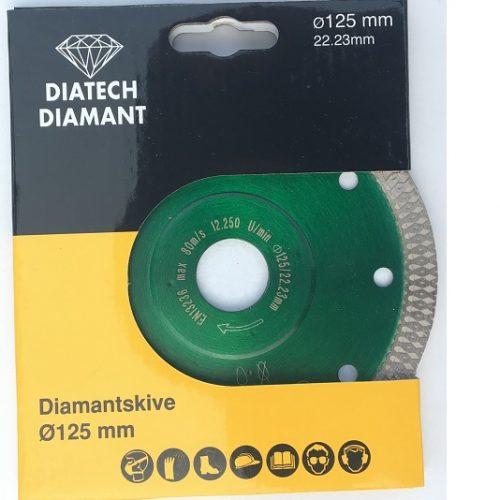 "Diamant fliseklinge ""flet"" til keramiske fliser - ø125 mm"