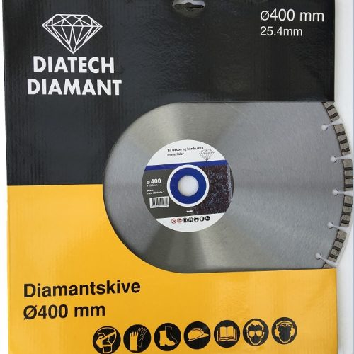 ø400 mm lastersvejst diamantskive