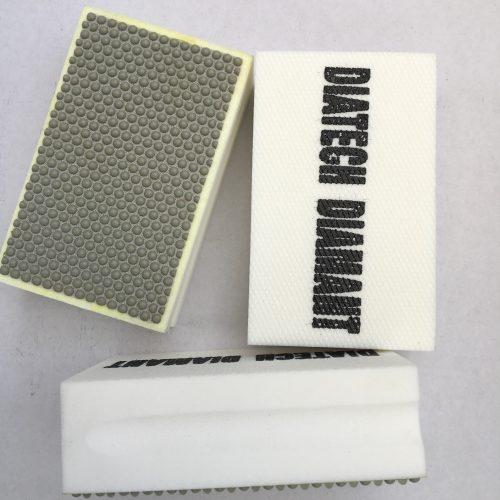 Diamant pudseklods #400 (håndslibepad) til slibning af kanter på fliser og natursten.