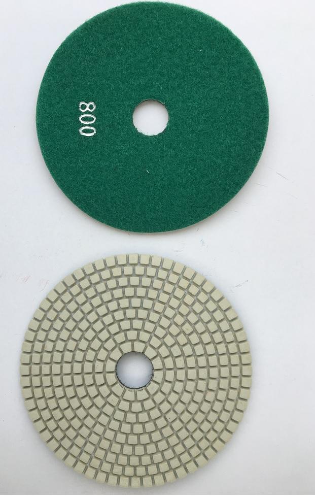 Diamant korn 800 tørslibningsskiver Ø 125 mm m. velcro bagside