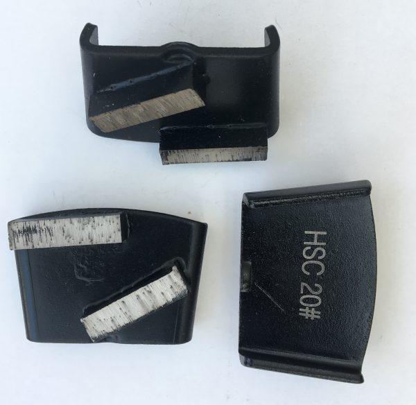 Diamantsegment til HTC Ezchange bagplade