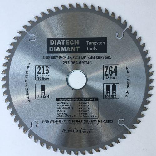 216×2,8x30mm 64 tænder til alluminium