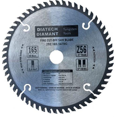 DIATECH Rundsavsklinge til træ der måler 160×2,2x20mm 56 tænder.