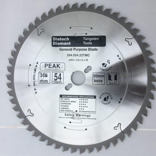 Diatech rundsavsklinge ø305 mm i PEAK kvalitet